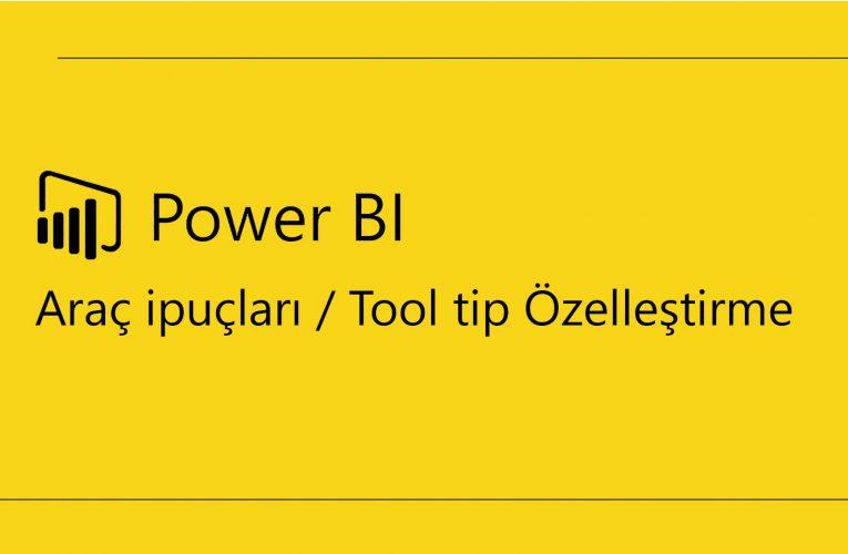 Power BI Tool tip / Araç İpucu Özelleştirme